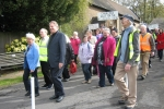 Mayor, Cllr. Sybil Camsey, and David Evennett MP on the first part of the Walk.