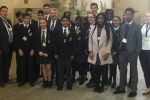 David Evennett MP with Bexleyheath Academy students.