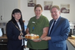 Mr Evennett and Cllr Pallen are pictured with Kath Misselbrook.